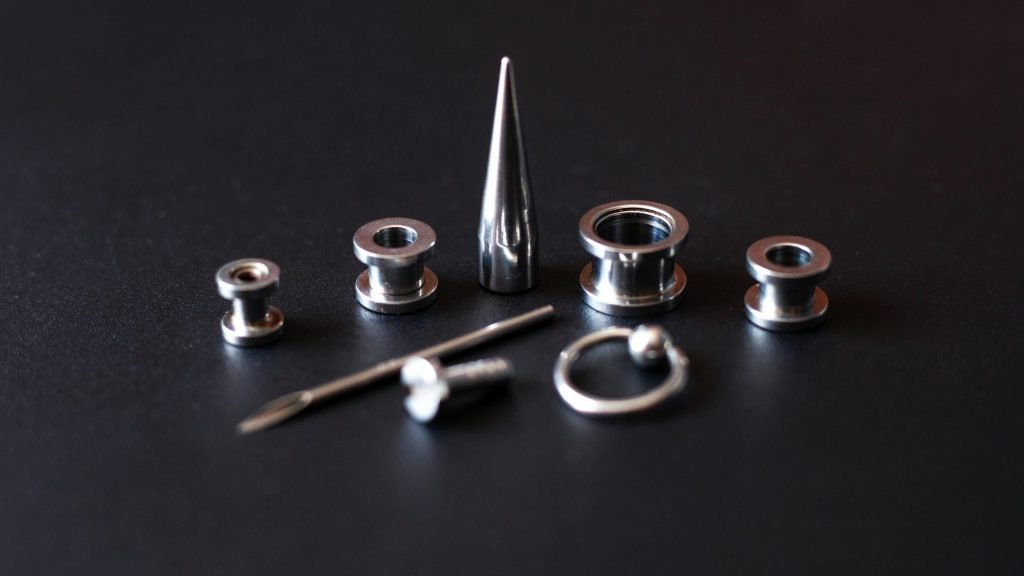 Different Earlobe stretching devices